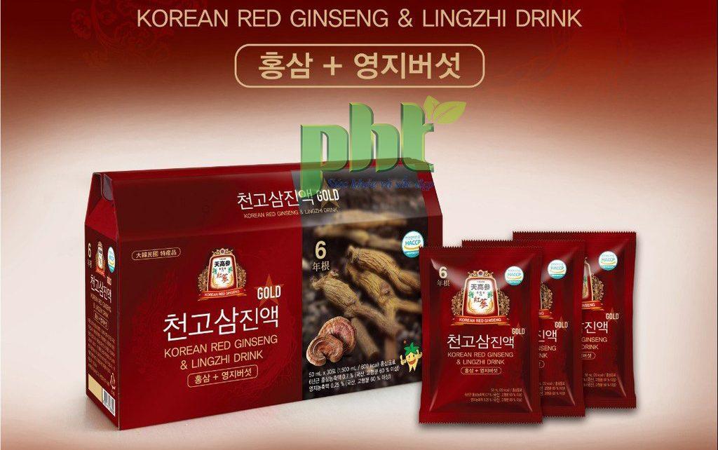 Nước uống tinh chất nhân sâm Cheongo Gold: Bổ gan, mát phổi